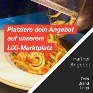 Gastronomie LiXi Marktplatz Shop Unternehmen Multiplikatoren Zubereitung Gericht